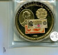 ABRAHAM  LINCOLN 2009 $500 GOLD CERTIFICATE CURRENCY MEDAL 1730H