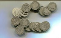 1902   1916  BARBER SILVER DIME LOT OF 39 COIN LOT AG GOOD VG 6099H