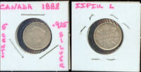 WORLD COINS CANADA 1888 5 CENTS CH VF 2G935 .925 SILVER