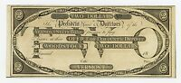 1800'S $2 THE VERMONT STATE BANK   WOODSTOCK VERMONT NOTE AU