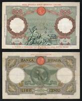 ITALIAN EAST AFRICA P 2B. 1939 100 LIRE   RED OVERPRINT ON ITALIAN 100 LIRE. AVF