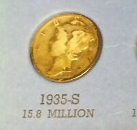 1935 S USA MERCURY DIME  WHAT YOU SEE IS WHAT YOU GET CHEAP