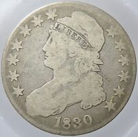 1830 CAPPED BUST SILVER HALF DOLLAR VG CONDITION P37