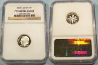2008 S 10C SILVER NGC PF70UCAM ROOSEVELT DIME PROOF ULTRA CAMEO