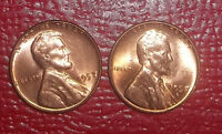 1957 P&D UNCIRCULATED LINCOLN CENTS
