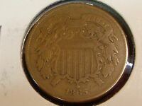 1865 TWO CENT PIECE 2C F