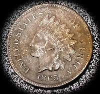 1865 INDIAN HEAD CENT - FINE CONDITION, BIG DISCOUNT FOR BENT COIN C065