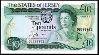 JERSEY. TEN POUNDS DB899962. 1970S CLENNETT SIG ALMOST UNCIRCULATED.
