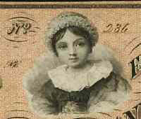 RED INKED BEAUTY CUMBERLAND MD  ALLEGANY COUNTY BANK $5 JAN. 4 1860