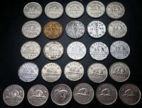 LOT OF 26 CANADA NICKELS   5 CENTS  1937 1938 1939 1940 1941 1942 1943 1944 1945