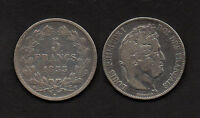 M8348 FRANKREICH FRANCE 5 FRANCS 1833 T SILBER LOUIS PHILIPPE 1830   1848