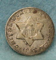 1851 O THREE CENT SILVER  CIRCULATED US COIN 9975