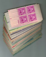A GROUP OF 100 DIFFERENT  1 CENT THROUGH 8 CENT PLATE BLOCKS MINT NH OG