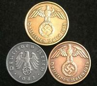 WW2 GERMAN COINS HISTORICAL WW2 AUTHENTIC ARTIFACTS