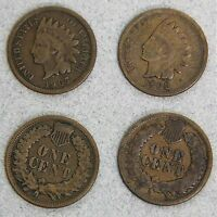 LOT OF 2 INDIAN HEAD PENNIES CENTS 1903 1907 90A BRONZE