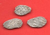 RUSSIA LOT OF 3 COINS ALEXEY MICHAILOVICH 1645 1676 WIRE COPECK  F VF 559