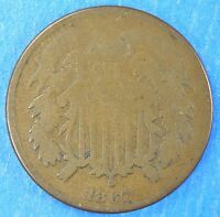 1867 TWO-CENT PIECE G CONDITION P29