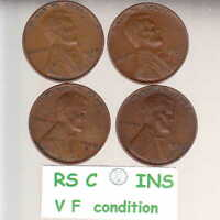 1936S   1937S   1938S   1939S      4  FINE  LINCOLN CENTS   FREE SHIP