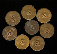 SWEDEN EIGHT 2 ORE  EF 8 MOSTLY IN THE 1960S 2G513 SUPERIOR LOT