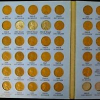 COMPLETE LINCOLN WHEAT PENNY CENT COLLECTION ALBUM 1941   1958 P D S SET