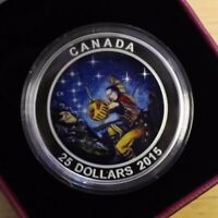 2015 $25 FINE SILVER COIN STAR CHARTS THE WOUNDED BEAR