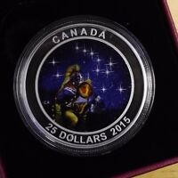 2015 $25 FINE SILVER COIN STAR CHARTS THE QUEST