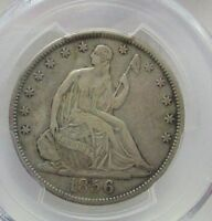 1856 S VF 30 SEATED LIBERTY HALF DOLLAR BEAUTIFUL  PCGS CERTIFIED