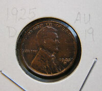 1925 D ABOUT UNCIRCULATED  LINCOLN WHEAT CENT