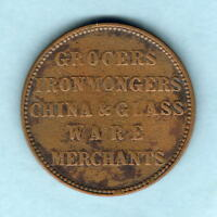 AUSTRALIA   TOKEN.  MURRAY & CHRISTIE 1862 1D.. CASTLEMAINE VIC..   VG F