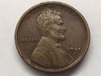 1915 D LINCOLN WHEAT HEAD PENNY ONE CENT U.S. COIN  FREE BUBBLE SHIP W TRACKING