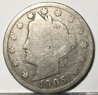 1905 LIBERTY V NICKEL U.S. COIN  FREE BUBBLE SHIP W TRACKING
