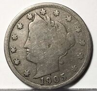 1905 LIBERTY NICKEL U.S. COIN  FREE BUBBLE SHIP W TRACKING