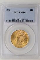 1932 P $10 INDIAN GOLD EAGLE. PCGS MS64. GREAT STRIKE & LUSTER   I 4651