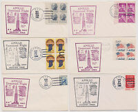 US APOLLO UNMANNED SPACE FLIGHT 1966 NAVY RECOVERY FORCE 6 SHIPS 6 COVERS  |