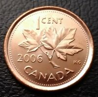 MINT CONDITION 2006 P MAGNETIC CANADA 1 CENT PENNY   FREE COMBINED S/H