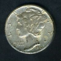 UNITED STATES 1945 D MERCURY SILVER DIME COIN AS SHOWN