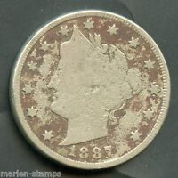 UNITED STATES 1887   LIBERTY 'V' NICKEL YOU  DO THE GRADING