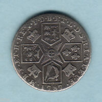 GREAT BRITAIN. 1787 GEORGE 111.. SHILLING.. WITH HEARTS..  FINE