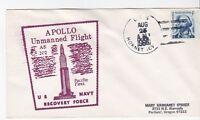 USS HORNET APOLLO UNMANNED FLIGHT AS202 US NAVY RECO FORCE 8/25/1966