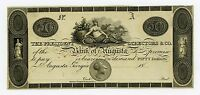 1800'S $50 THE BANK OF AUGUSTA GEORGIA NOTE AU