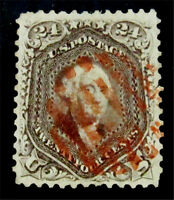 NYSTAMPS US STAMP  70 USED $340 RED CANCEL
