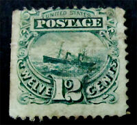NYSTAMPS US STAMP  117 MINT WITH GUM H $1900