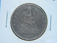 1858 O SEATED LIBERTY HALF DOLLAR SHARP COIN FULL BOLD LIBERTY SHOWS