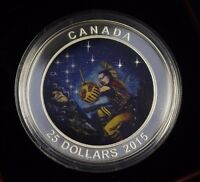 2015 $25 FINE SILVER STAR CHARTS THE WOUNDED BEAR WITH CAO AND BOX NOT SALE TAX