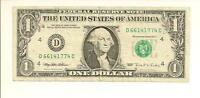 1995 $1  WEB FED PRESS NOTE  D 6614 1774 C  FRONT PLATE  2 BACK PLATE  9