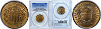 1867 TWO CENT PIECE PCGS MINT STATE 66 RB