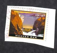 4269 HOOVER DAM, $16.50, USED EXPRESS MAIL STAMP, ON PAPER