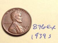 1939 S 1C BN LINCOLN CENT 876EX