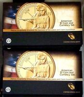 2    2014 D ENHANCED SACAGAWEA NATIVE AMERICAN $1 COIN AND CURRENCY SET