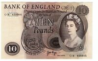 GREAT BRITAIN NOTE 10 POUNDS PAGE 1970 5 P 376C AUNC
